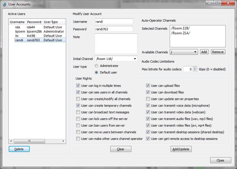 TeamTalk 5 Help: TeamTalk User Interface Guide